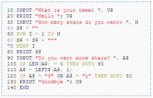 programa en basic