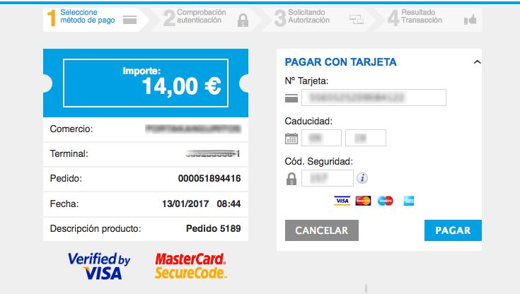 formulario de pago redsys