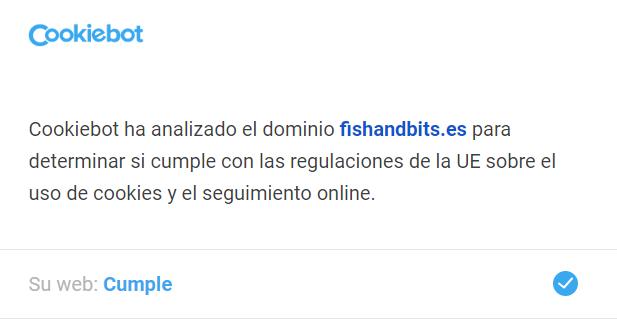 Cookiebot ha analizado el dominio fishandbits.es para determinar si cumple con las regulaciones de la UE sobre el uso de cookies y el seguimiento online. Su web: Cumple.