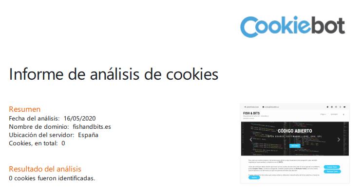 Resultado del análisis: 0 cookies fueron identificadas.