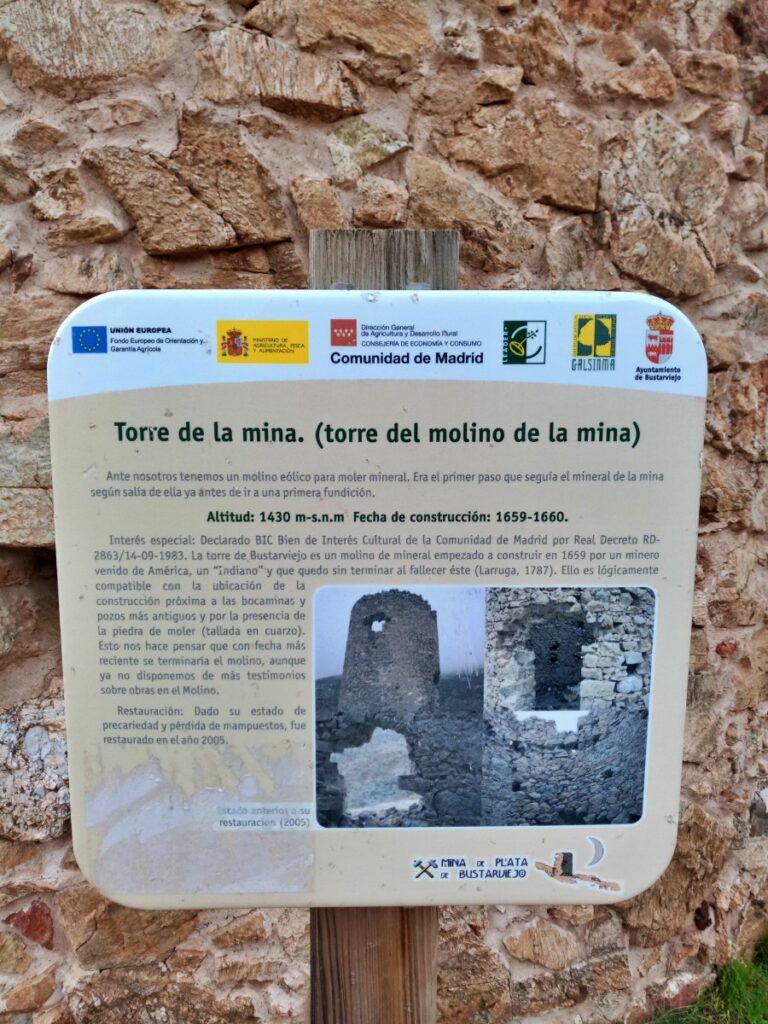 Mina de plata de Bustarviejo y cima del Mondalindo - Torre de la mina (descripción)